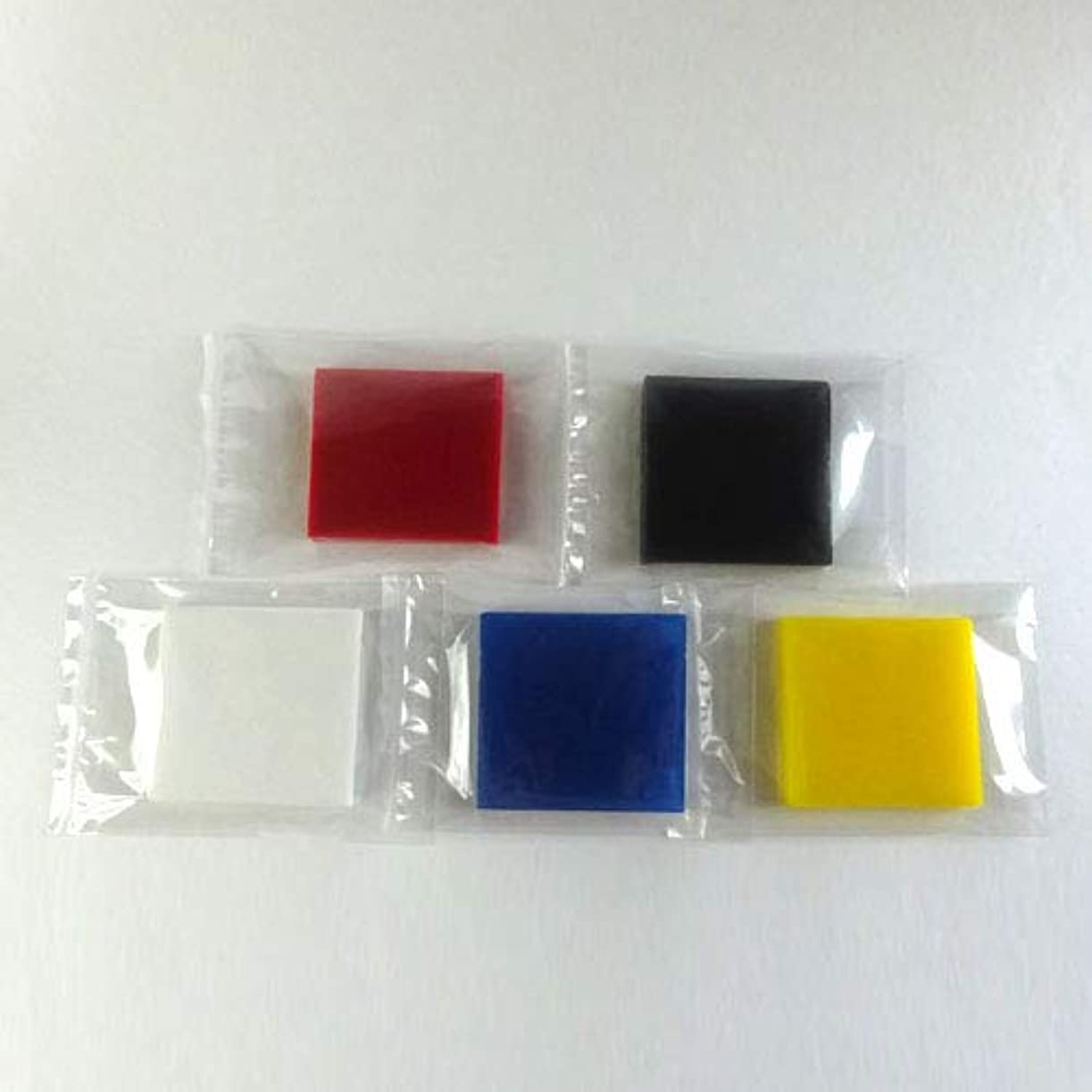 熱意巡礼者記念品グリセリンソープ MPソープ 色チップ 5色(赤?青?黄?白?黒) 各60g(30g x 2pc)