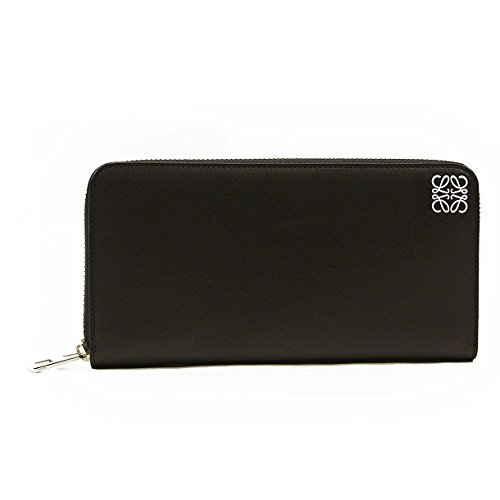 (ロエベ) LOEWE 財布 長財布 109N54.F13 1100 ZIP AROUND WALLET BLACK [並行輸入品]