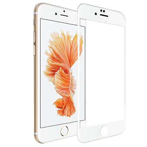 SUPTMAX iPhone 6s Plus 対応 iPhone 6s Plus フィルム iPhone 6 Plus 保護フィルム 全面 3D Touch 対応 2.5D 9H 強化ガラス 全面 耐衝撃 高透過率 ( ホワイト)