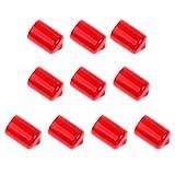 Dovewill ゴム プール ビリヤードキュー 先プロテクター 保護カバー 10個入 全2色2サイズ - 赤, サイズ2