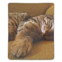 マウスパッド オフィス最適 高級感 おしゃれ 防水 耐久性が良い 滑り止めゴム底 滑りやすい表面 マウスの精密度を上がる 眠っている子猫猫