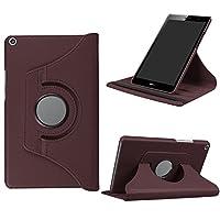 Asng Huawei MediaPad T3 8.0 ケース 360度回転仕様カバー 薄型 軽量型 スタンド機能 高品質PUレザーケース (ブラウン)