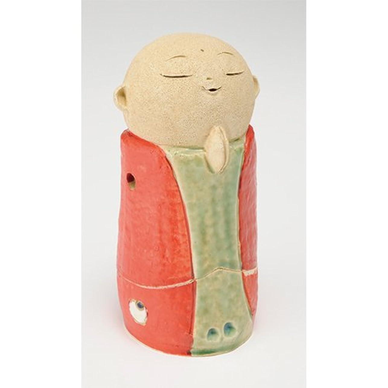 足首リラックスサイレントお地蔵様 香炉シリーズ 赤 お地蔵様 香炉 5.3寸(大) [H16cm] HANDMADE プレゼント ギフト 和食器 かわいい インテリア
