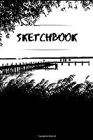 """Sketchbook: Scenery 6x9"""" 120 Blank Pages - Beautiful Artist Drawing Pad (Handbook & work book) -: Doodling, Sketching & Painting.: Journal notebook pad art book"""