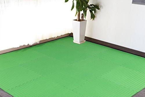 低臭 ジョイントマット(グリーン) 3畳用 16枚組+予備1枚...