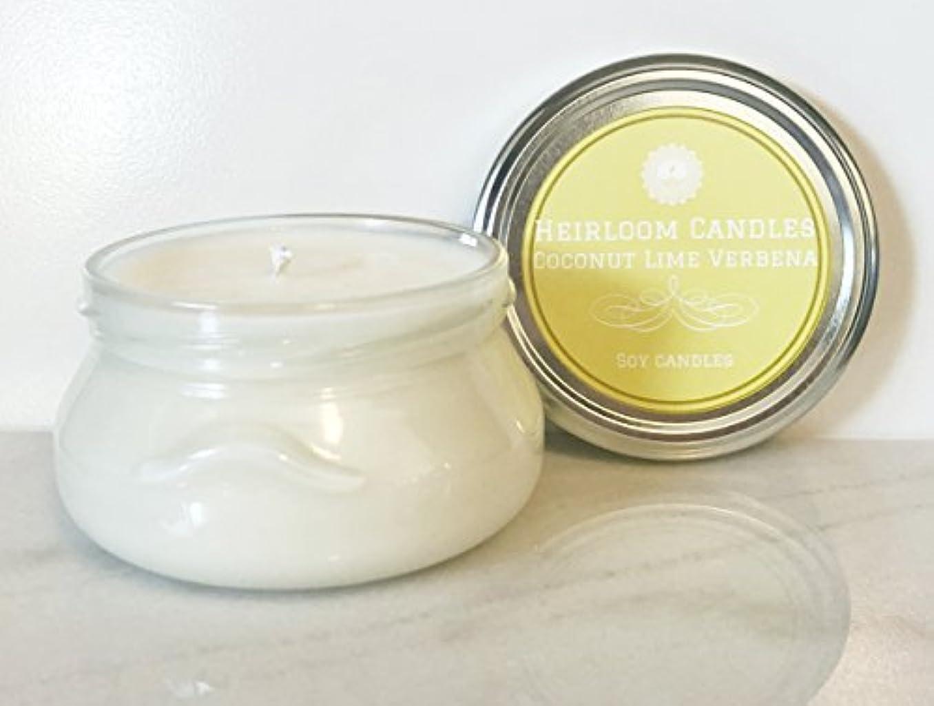 引き受ける爆発時計回りCoconut Lime Verbena Scented Soy Candle - Tropical Citrus Candle - Handmade, 6oz [並行輸入品]