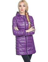 Showlovein ダウン ジャケット レデイース 軽量 ライトダウン コート春秋冬 防風 暖かいロングコート超薄いダウンジャケット