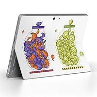 Surface go 専用スキンシール サーフェス go ノートブック ノートパソコン カバー ケース フィルム ステッカー アクセサリー 保護 カラフル 果物 オレンジ 緑 009176