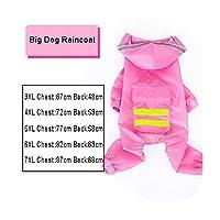 犬レインコートジャンプスーツレインコート犬用ペットマントラブラドール防水ゴールデンレトリバージャケット,Pink,5XL
