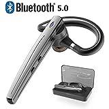 Bluetooth ヘッドセット5.0 ワイヤレスブルートゥースヘッドセット 高音質片耳 内蔵マイクBluetoothイヤホンビジネス 快適装着 ハンズフリー通話 また日本技適マーク取得品/(黒い)