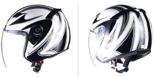 リード工業 バイクヘルメット ジェット STRAX SJ-9 ホワイト LL 61~62cm未満