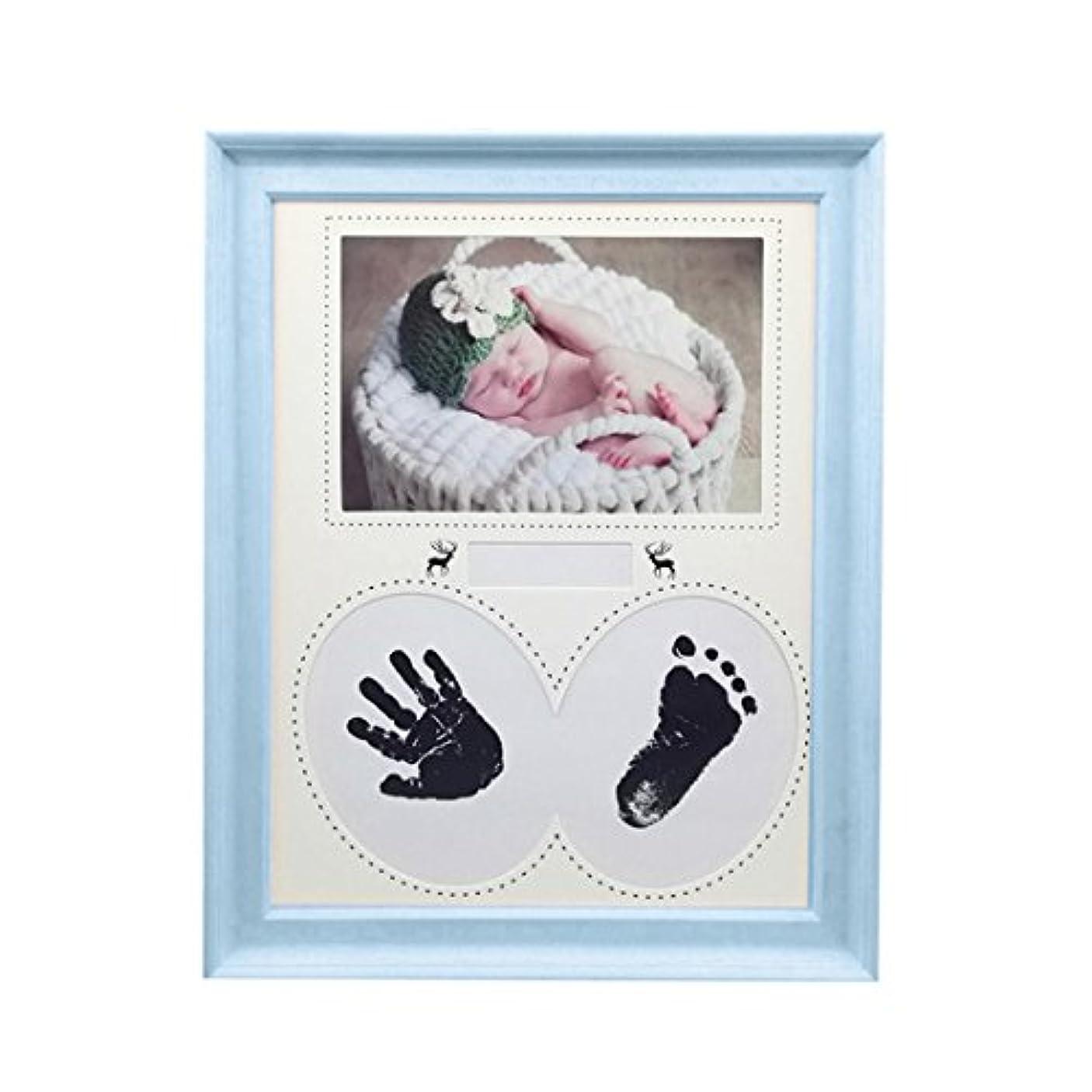 翻訳する在庫幻影Yuena Care フォトフレーム ベビー 手形 足形 ベビーフレーム 赤ちゃん 手足型 写真立て 無毒で安全 手足を汚さない 名入れ 出産祝い 置き掛け兼用