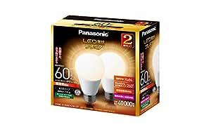 パナソニック LED電球 プレミア E26口金 電球60W形相当 電球色相当(7.8W) 一般電球・全方向タイプ 2個入 密閉形器具対応 LDA8LGZ60ESW2T