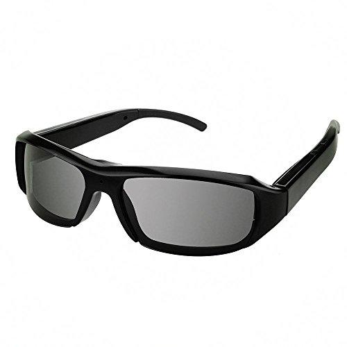 Ugetde 超格好いいスポーツカメラ スポーツサングラス メガネ型 高解像度HD1080Pビデオカメラ 登山/ツーリングなどに最適 録画も撮影も適用(反射型レンズ/ブラック) (黒)