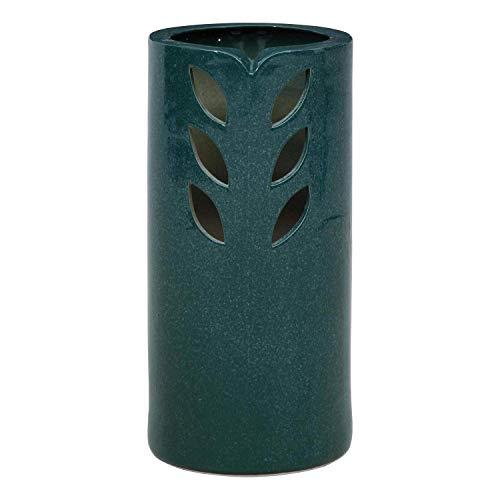 不二貿易 傘立て 幅20cm グリーン 陶器 信楽風 NT-01 36853
