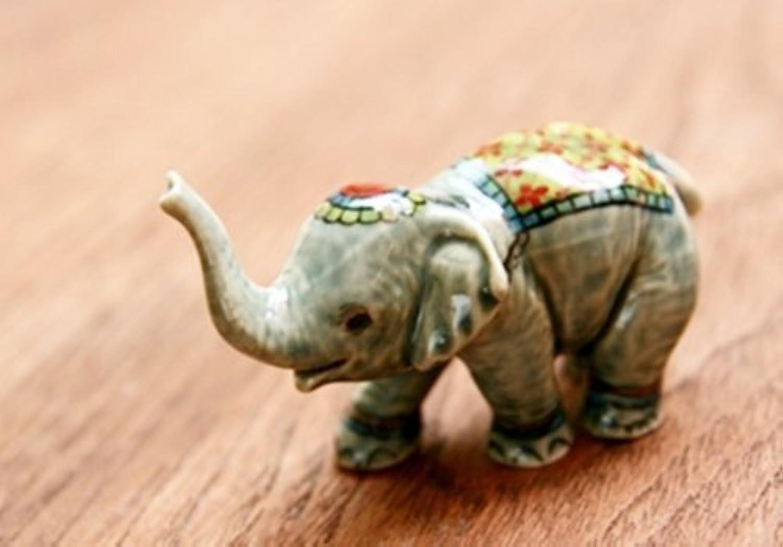 3 D Ceramic Toy Elephant Play Ball 3 Dollhouse Miniatures Free Ship by ChangThai Design [並行輸入品]