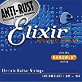 ELIXIR エリクサー エレキ ギター 弦 アンチ ラスト (コーティング弦) NANOWEB ナノウェブ 09-46 × 3セット パック 12027-3P