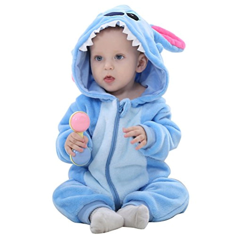 エルフ ベビー(Fairy Baby) 可愛い着ぐるみ ベビー服秋冬 フード付きロンパース ジャンプスーツ(size:100)