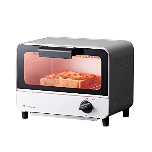 モノクローム オーブントースター 650W ホワイト KOS-0670/W