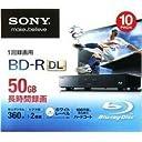 SONY 録画用ブルーレイディスクBD-R DL 1-2倍速対応 50GB 10枚パック 10BNR2VXPS2