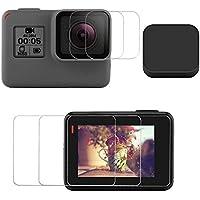 【Taisioner】GoPro HERO5/6/7 Black用 9H液晶保護フィルム+シリコンレンズカバーセット 全面保護2セット入り