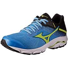 Mizuno Australia Men's Wave Inspire 15 Running Shoes, Azure Blue/Sharp Green/Black