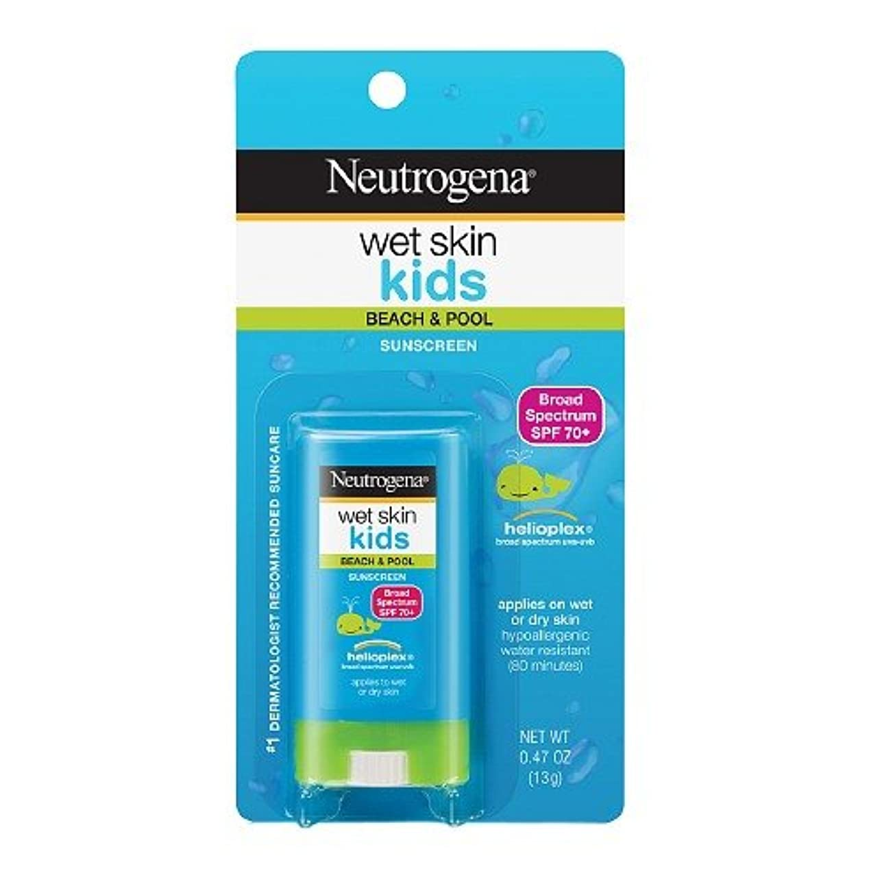 不利お誕生日人類Neutrogena ニュートロジーナオイル無ウェットスキンキッズ日焼け止めスティック SPF70 13g 並行輸入品