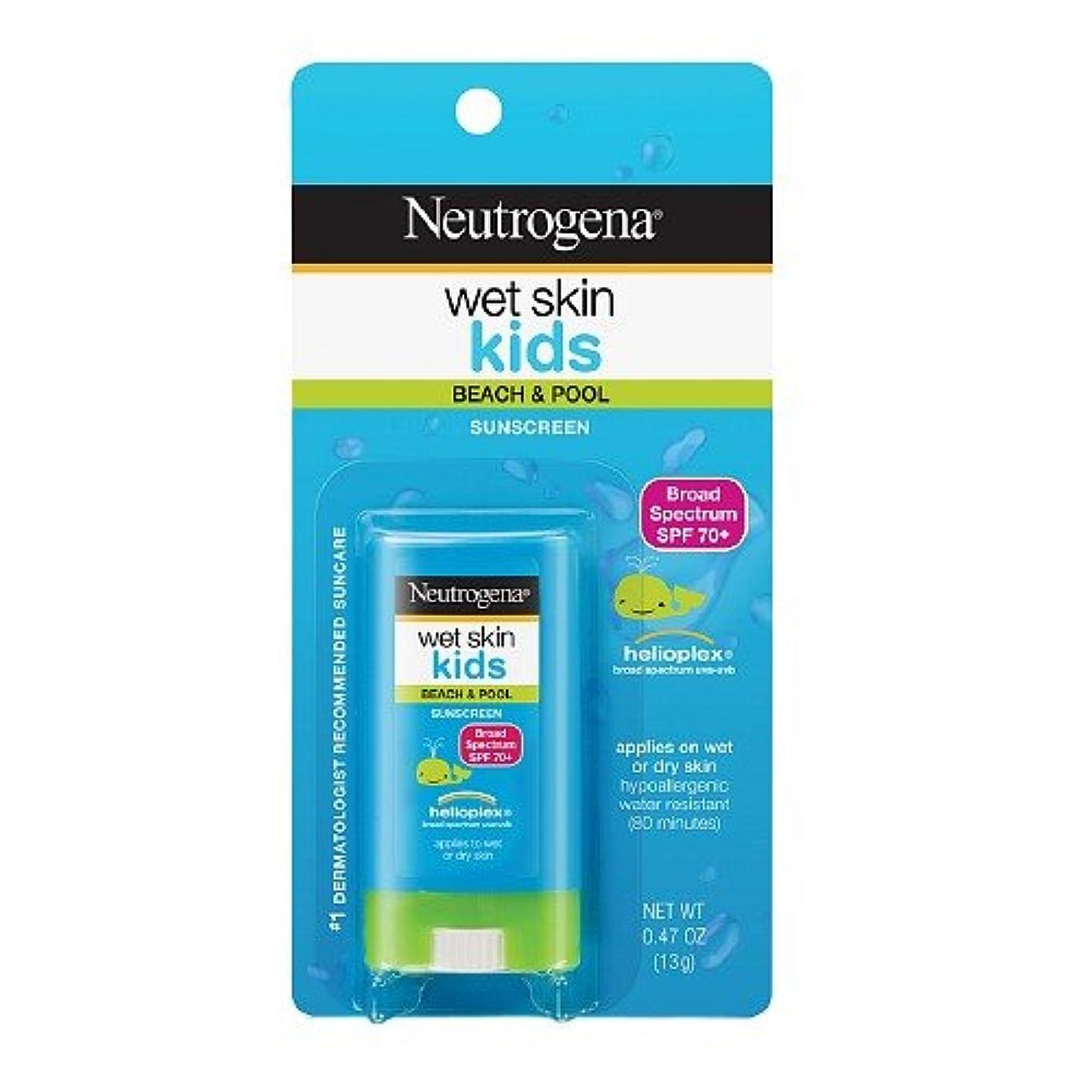薬剤師レーザ後継Neutrogena ニュートロジーナオイル無ウェットスキンキッズ日焼け止めスティック SPF70 13g 並行輸入品