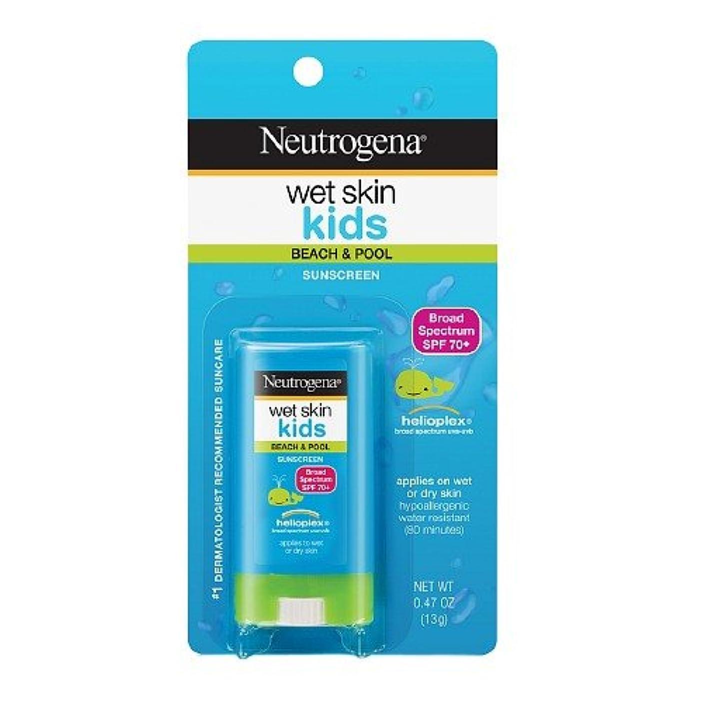 狂気中止します抵抗力があるNeutrogena ニュートロジーナオイル無ウェットスキンキッズ日焼け止めスティック SPF70 13g 並行輸入品