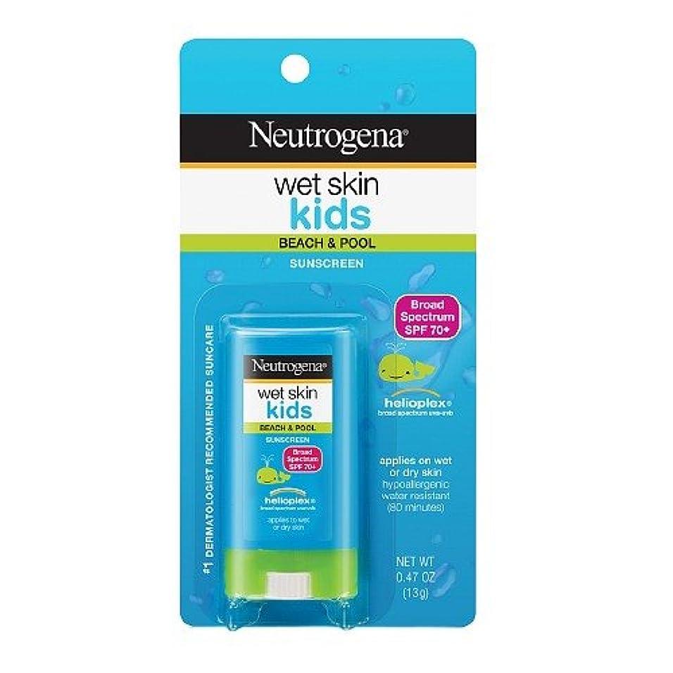 柔らかい足下位分泌するNeutrogena ニュートロジーナオイル無ウェットスキンキッズ日焼け止めスティック SPF70 13g 並行輸入品