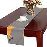 GGSXD テーブルランナー 陸上のキリン クロス 食卓カバー 麻綿製 欧米 おしゃれ 16 Inch X 72 Inch (40cm X 182cm) キッチン ダイニング ホーム デコレーション モダン リビング 洗える