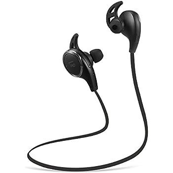TaoTronics Bluetooth イヤホン 4.0 超小型ワイヤレスステレオヘッドセット イヤーフック付き マイク内臓 TT-BH06