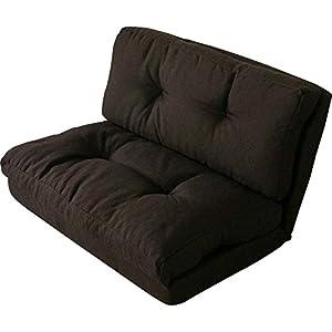 3WAY折り畳みソファーベッド/KOLME 幅約90 2人掛けセミダブル ブラウン CG-4Aー90-FAB