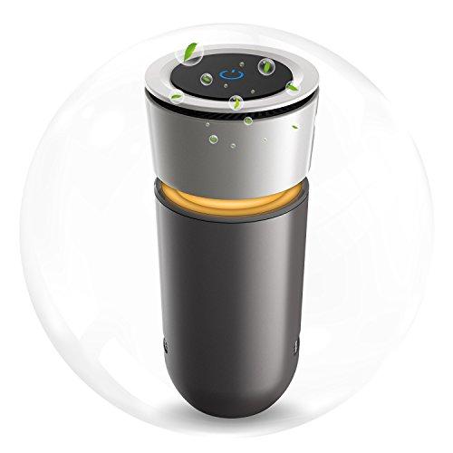 空気清浄機 イオン発生機 脱臭機 エアクリーナー 除菌消臭 花粉 アレルギ物質対策 無音 三層フィルター カップホルダータイプ USBポート USBケーブル付き 12V車対応可 車内 部屋キッチン トイレ 利用可能