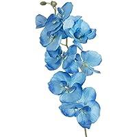 人工バタフライオーキッドシルクフラワーブーケ胡蝶蘭ウェディングホームオフィス装飾 ブルー