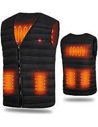 電熱ベスト 発熱ベスト ヒーター付きベスト ヒーター内蔵 電熱ジャケット ホットベスト 加熱ベスト USB加熱充電式 3段温度調整 アウトドアの防寒対策 男女兼用 水洗いでき しわなし 臭くない