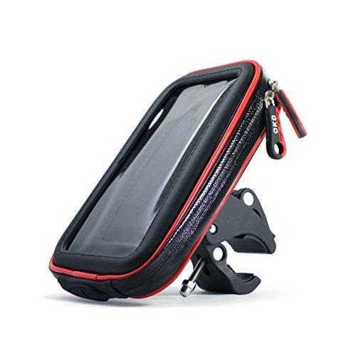 (アクアランド) AQUALAND スマホホルダー 防水 防塵 360度回転 落下防止ワイヤー付き iphone 強力固定 各種スマホ対応 マジックテープで調節 自転車 バイク スクーター 原付【製品保証3か月】 (Sサイズ)