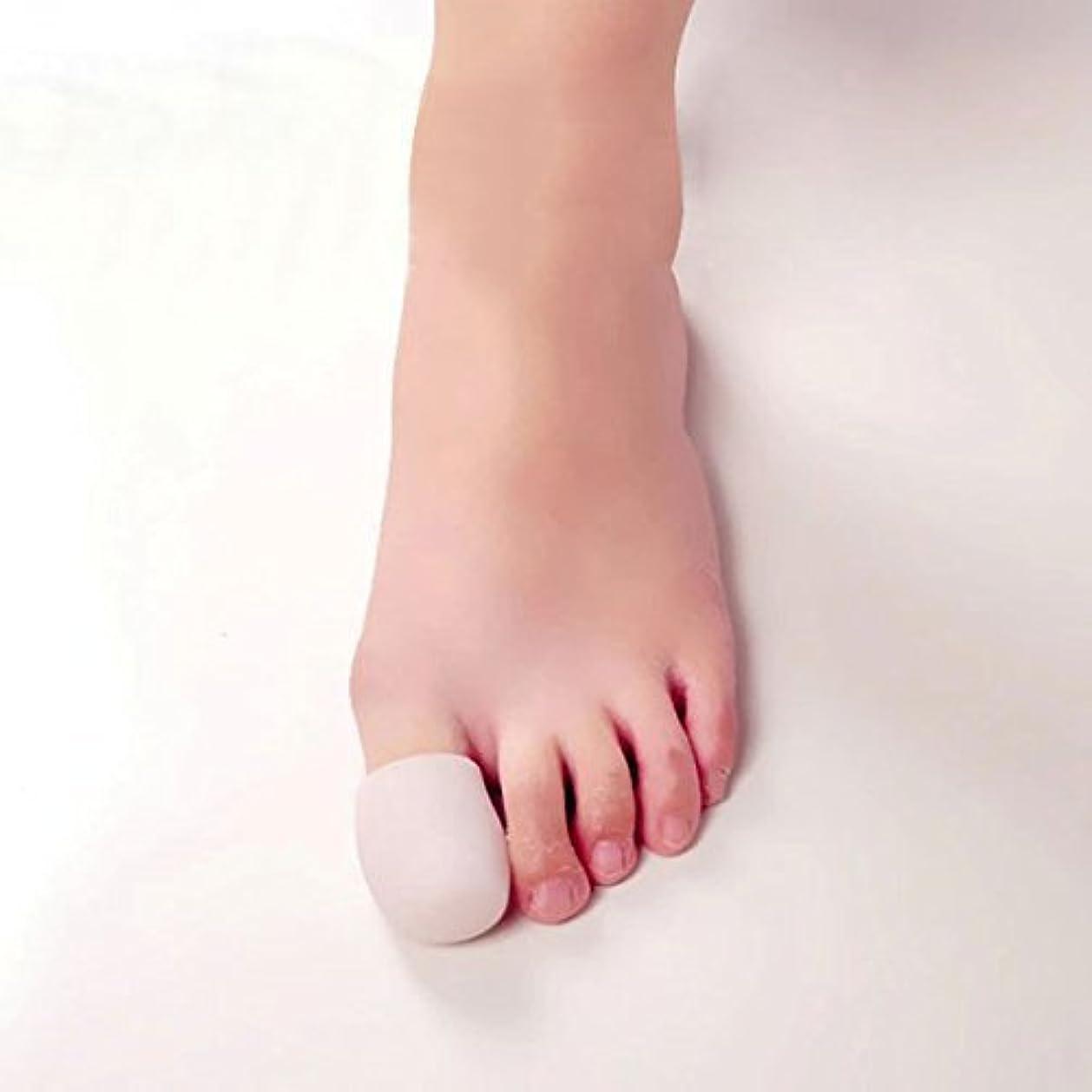 週末床医薬Hongch 1Pairホワイトシリコーンゲル 毎日のためにトウモロコシCalluse 保護足の親指キャップ ソフトクッションつま先プロテクター防止水疱