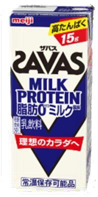 明治 ザバス ミルクプロテイン 脂肪 0 ミルク風味 200ml×24本/3ケース
