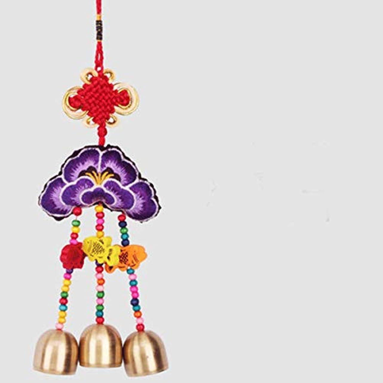 挽く憧れくそーJingfengtongxun Small Wind Chimes、中華風刺繍工芸品、14スタイル、ワンピース,スタイリッシュなホリデーギフト (Color : 6)