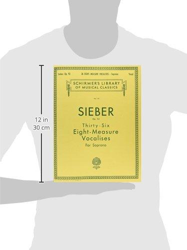 『36 Eight-measure Vocalises, Op. 92: Sheet Music』の2枚目の画像