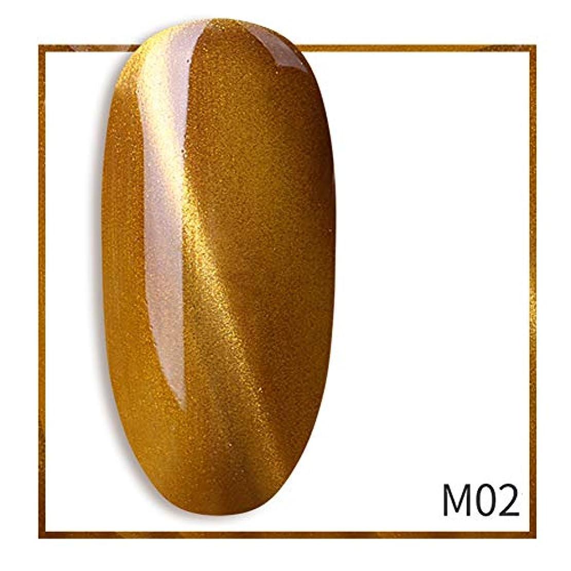 節約幻滅する引っ張るACHICOO ネイルジェル 7ml グリッター キャットアイ ポリッシュジェル きらきら ネイルアート サロン ゴールド-M02