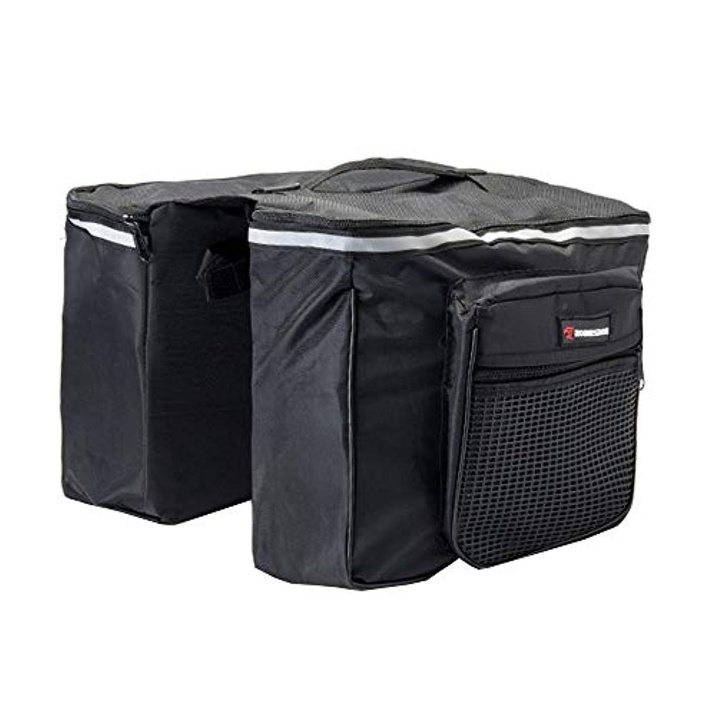 不承認石炭保存サイクリングバッグ、25L 防水および引き裂き抵抗 マウンテンバイクリアバッグ サイクリング機器/フラットシェルフバッグ ブラック-LXZXZ