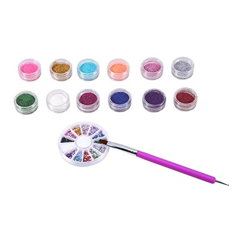 お手入れ放送腸12色キラキラ粉体塗装点ペンツール