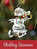 Ganz Sledding Snowman - Shannon - Ornaments NEW Gifts Christmas SLX2312-GANZ [並行輸入品]