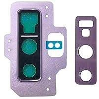 YMF ギャラクシーノート9のための10個のPCSカメラレンズカバー (Color : 紫の)