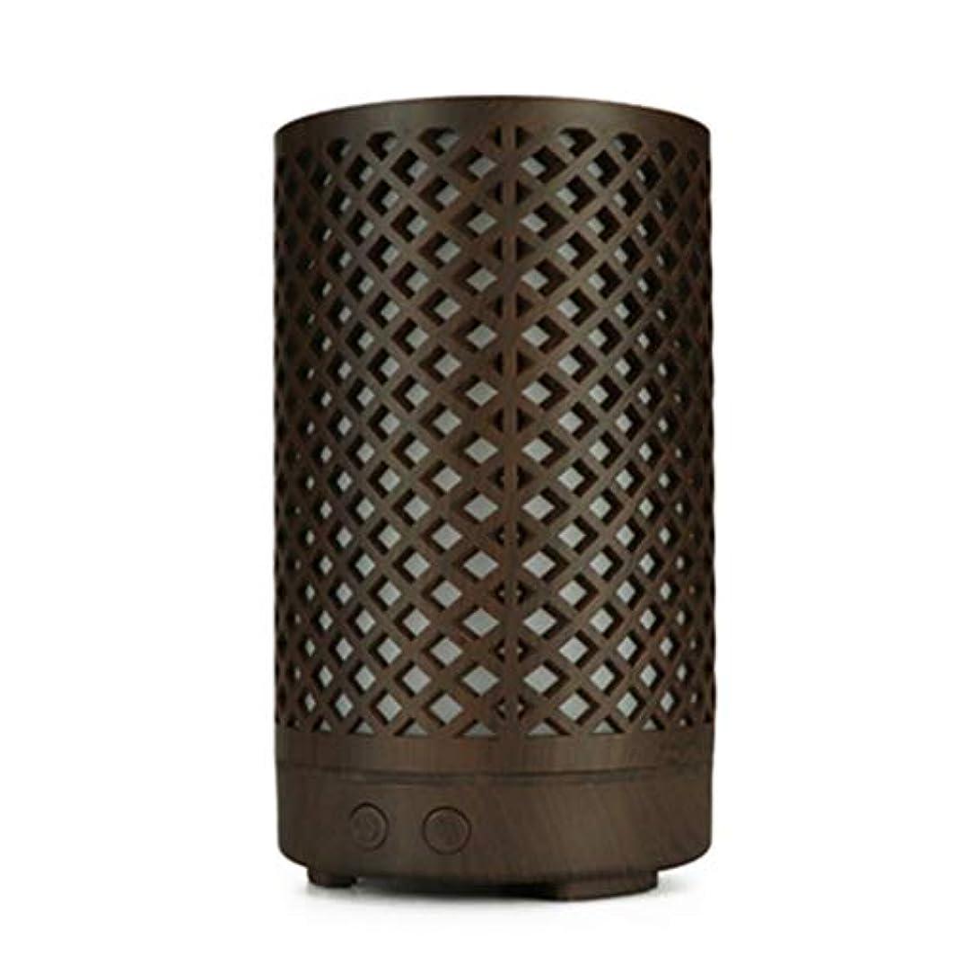 時系列探偵かなりの木目加湿器家庭用100ミリリットルミニデスクトップカラフルなアロマテラピーマシン (Color : Dark wood grain)