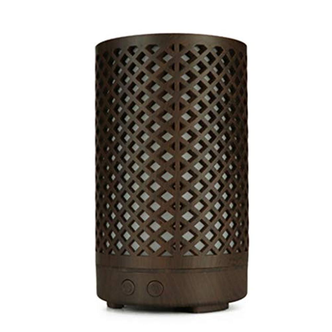 素晴らしい良い多くの七時半ベーコン木目加湿器家庭用100ミリリットルミニデスクトップカラフルなアロマテラピーマシン (Color : Dark wood grain)
