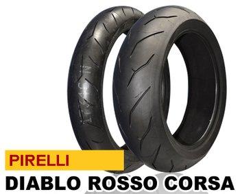 ピレリ(PIRELLI) バイクタイヤ ディアブロ ロッソ コルサ 120/70ZR17&200/55ZR17 M/C TL (810256)