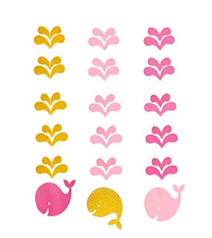 Chirstseason パーティー 誕生日 飾り付け 可愛い 鯨 海洋風 DIY 飾り バースデー ガーランド デコレーション インテリア 店舗 イベント テーマパーティー クリスマス 装飾 吊る飾り (ピンク 3本セット)